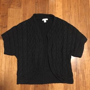 Coldwater Creek Black Knit Cardigan